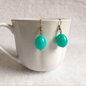Jewelry - Ice Blue Plastic Balloon Oval Earrings